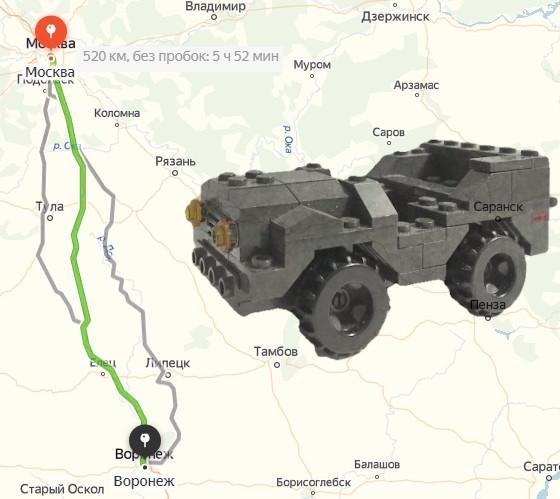 Поездка Москва Воронеж бла бла кар на карте