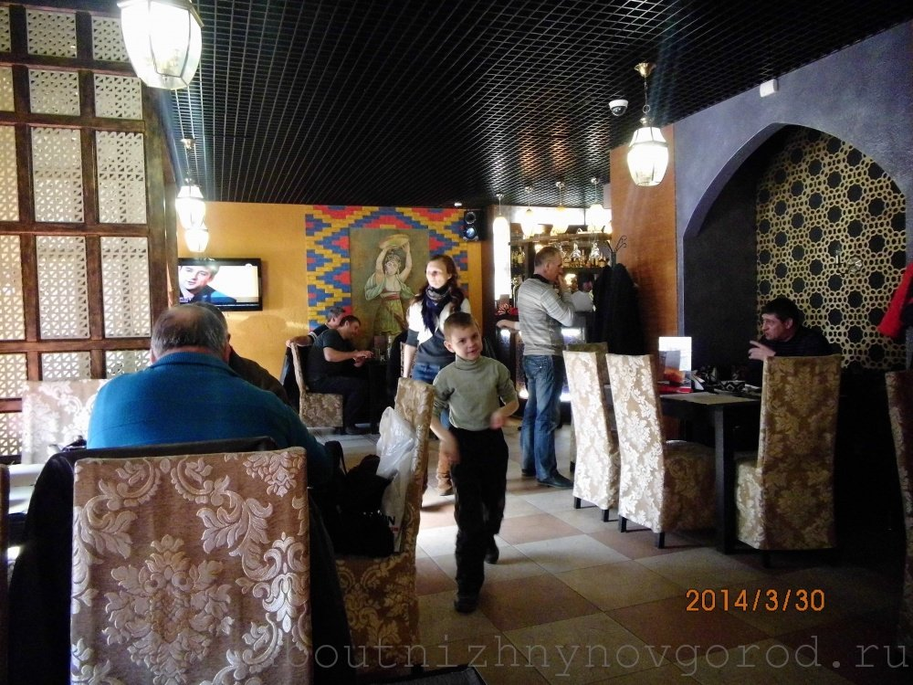Inside in the cafe Samarkand