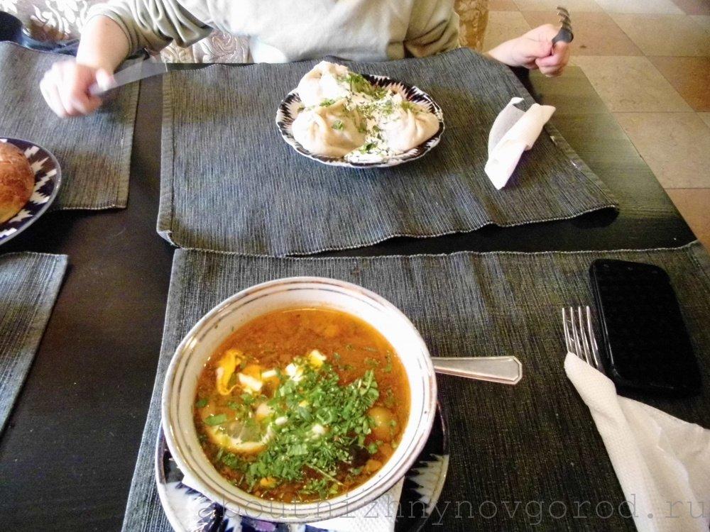 Блюда в кафе Самарканд