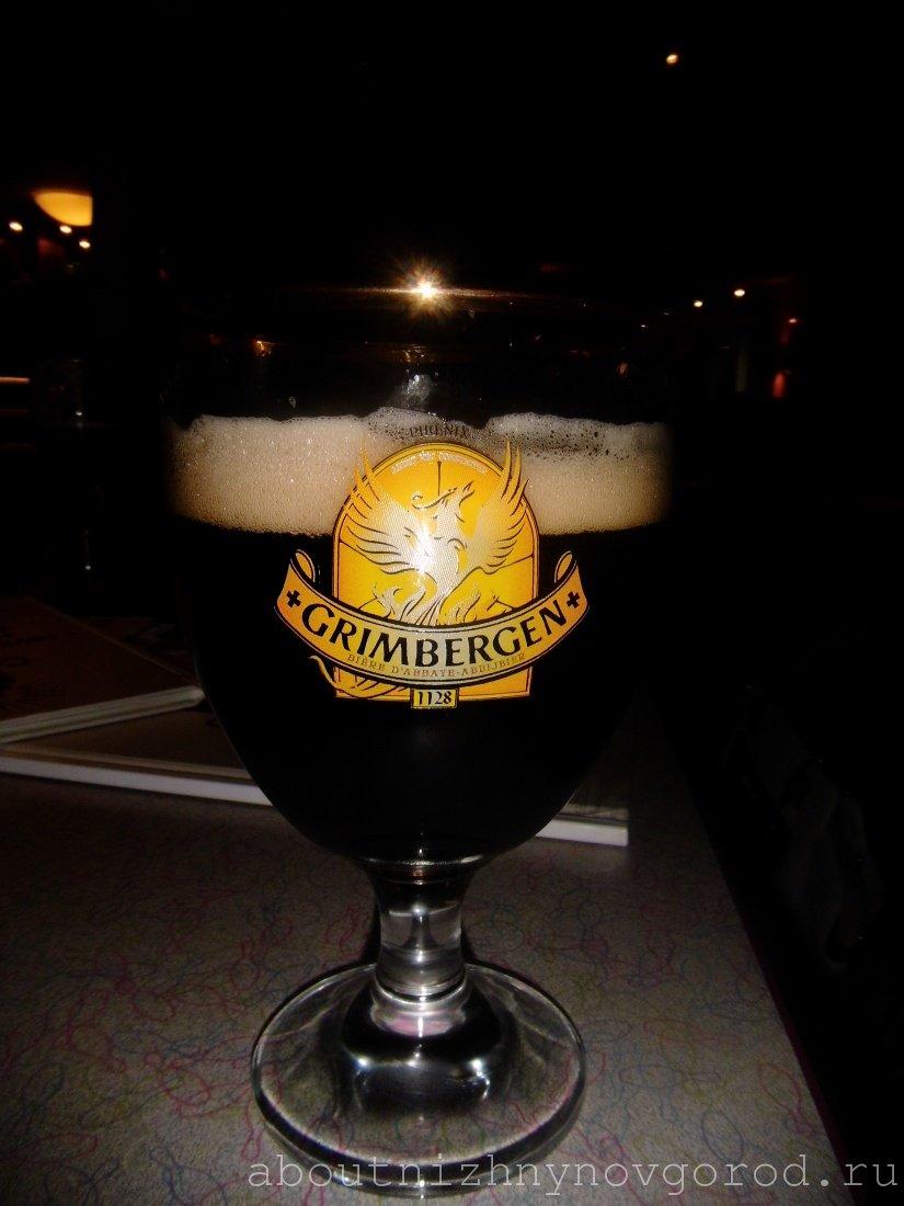 Пиво grimbergen в бокале