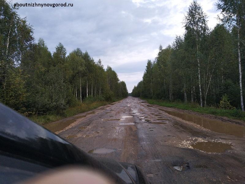 Дорога Нижний Новгород - Йошкар-Ола после Галибихи