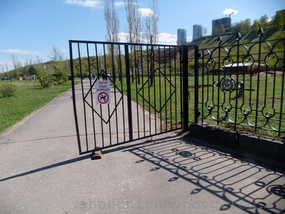 Другой вход в Парк победы