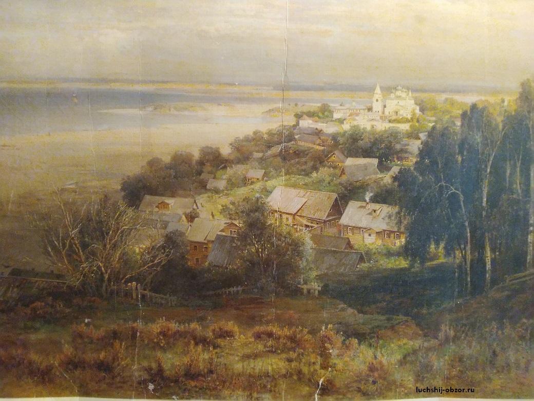 Картина Саврасова Печерский монастырь близ Нижнего Новгорода