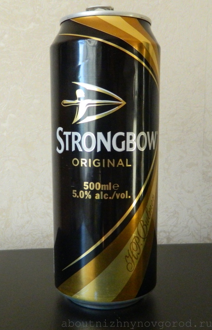Баночка strongbow. Сидр.