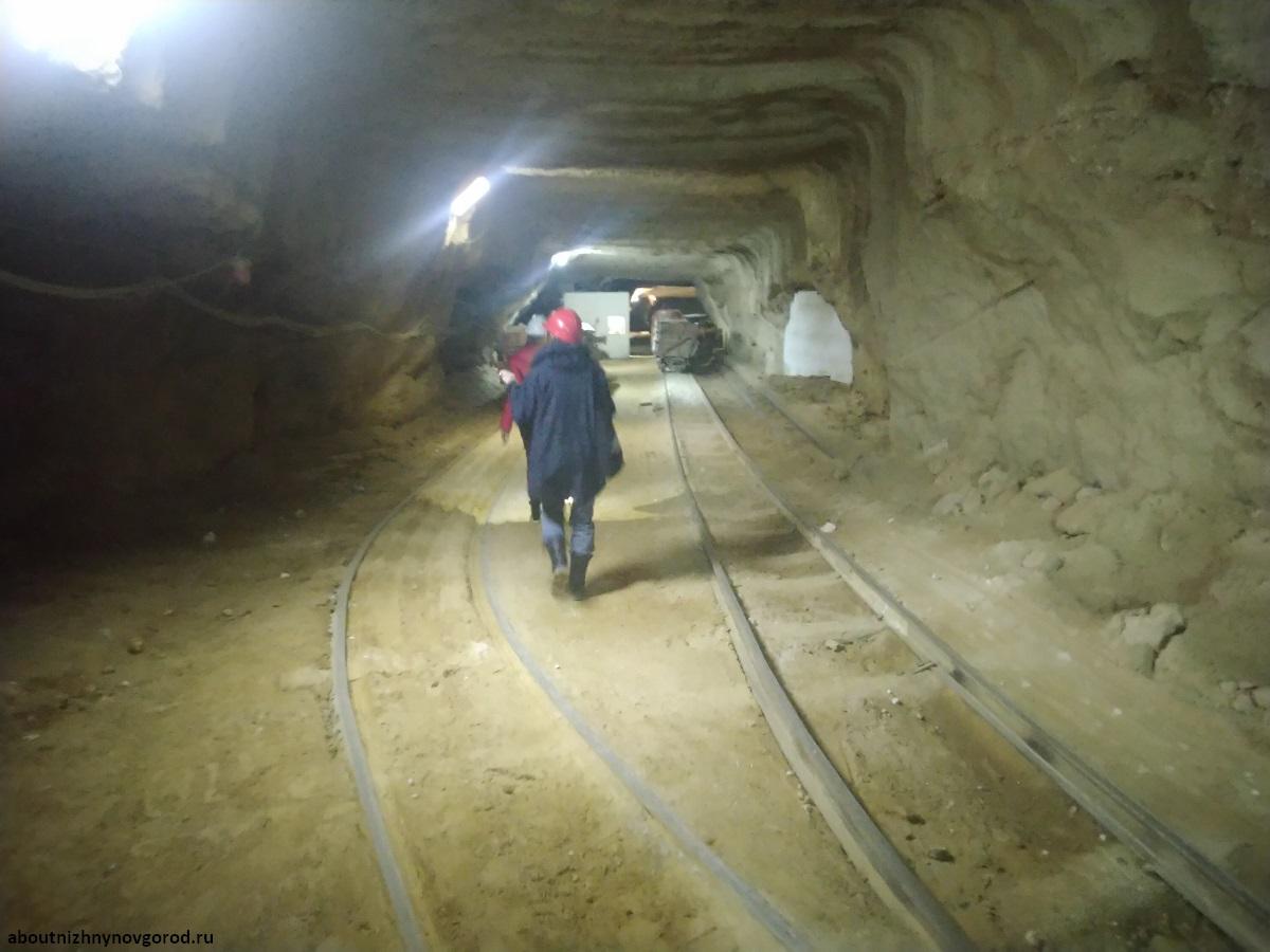 Спуск в шахту Музея горного дела