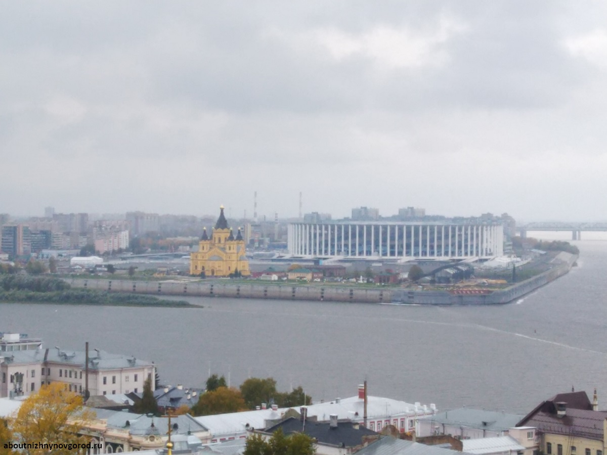 Окская набережная со стены кремля